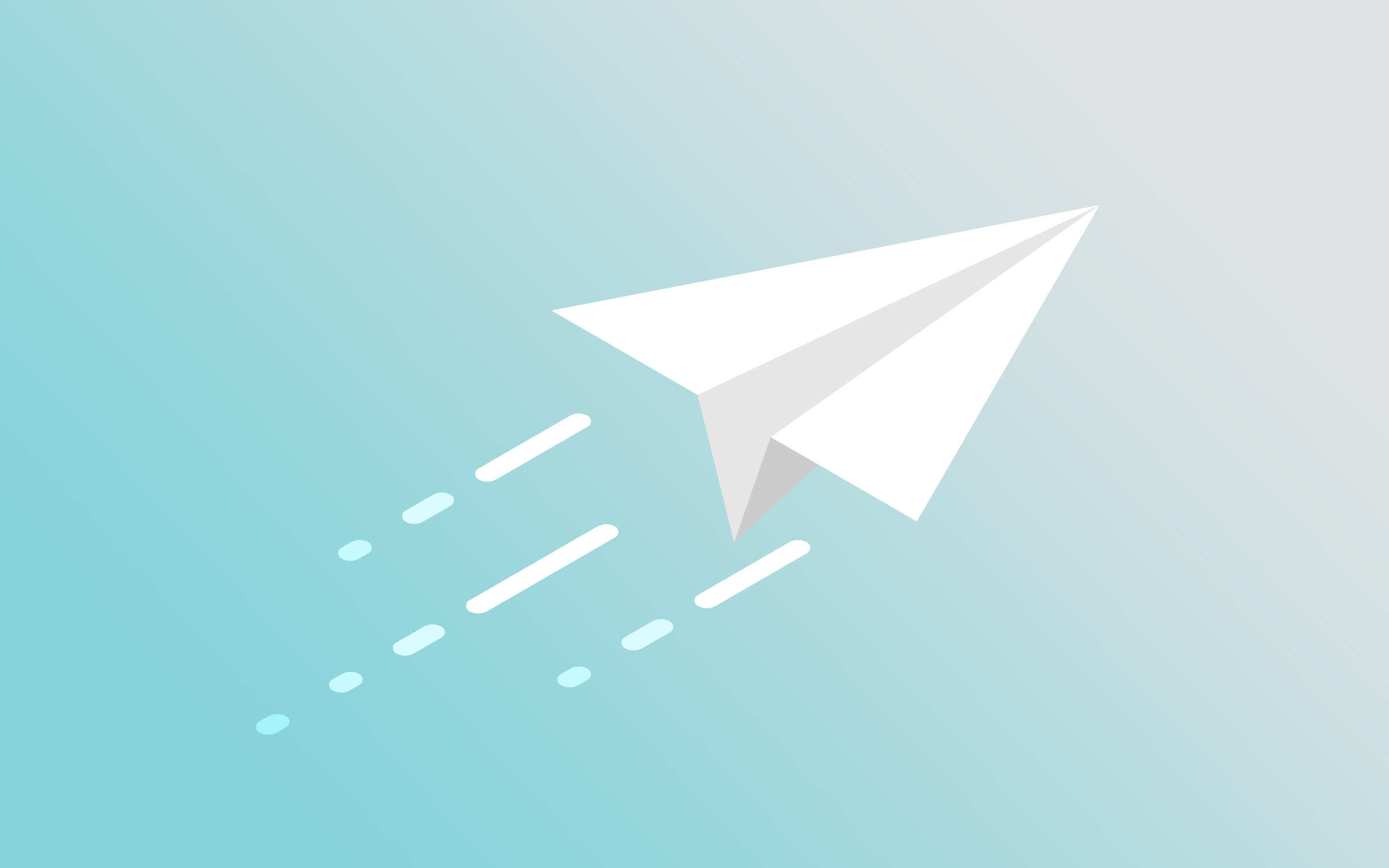 Paper airplane flying in the sky.